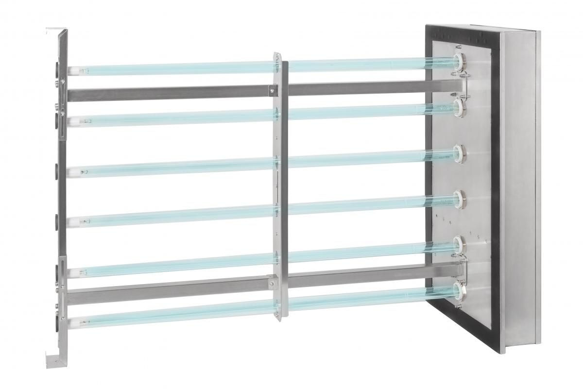 UV-C lempos AHU sistemoms ortakių dezinfekcijai: